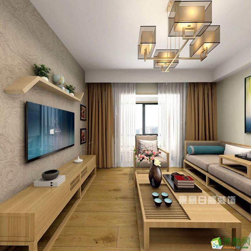【武汉东易日盛】远洋心汉口109方三室一厅日式装修效果图