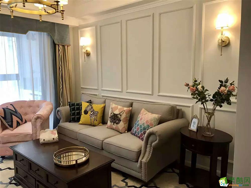 【六西格玛装饰】保利时代96方两室两厅美式风格装修效果图