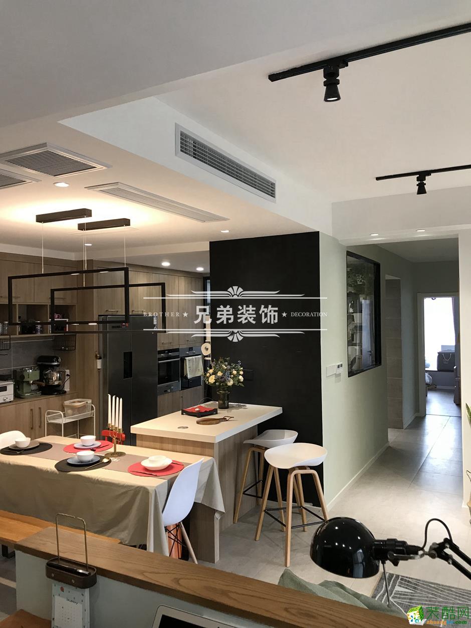【兄弟装饰】保利高尔夫华庭130�O简约风格三居室装修案例