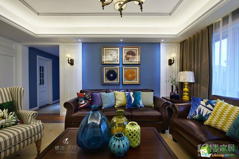 【蝶语美居】曙光之城139方三室两厅美式装修效果图