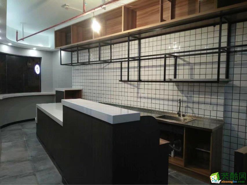 【殿宇裝飾】鳳城巷早餐店50平米簡約飯店