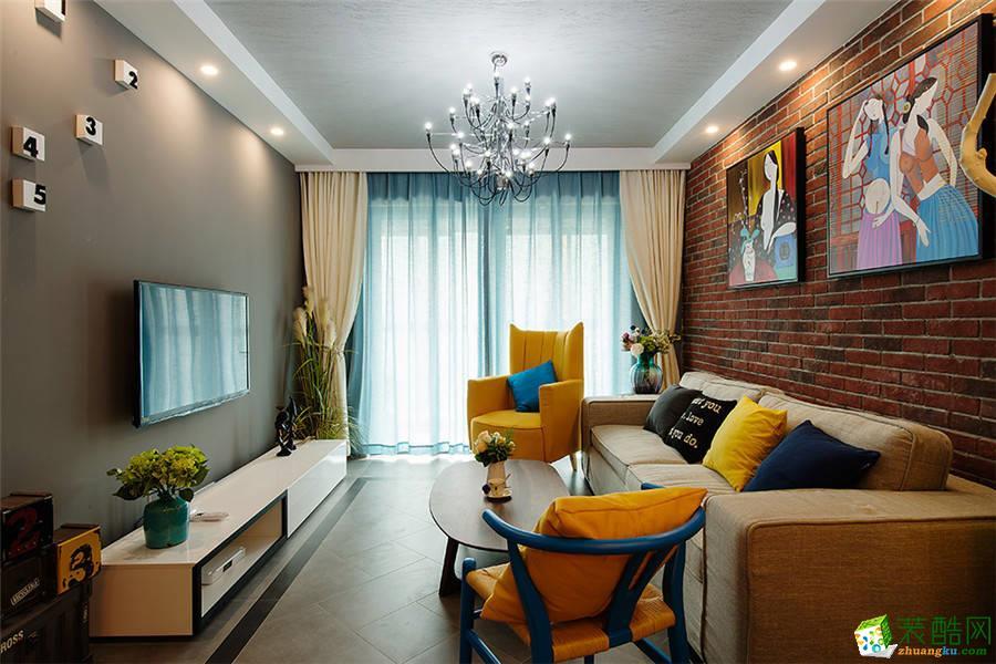 【维享家装饰】尚格景苑80平米混搭风格三居室装修案例图