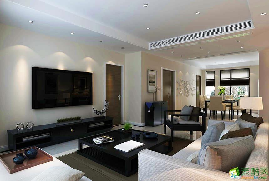 >> 【麥戈裝飾】綠地翠谷103平米現代簡約風格三居室裝修案例圖