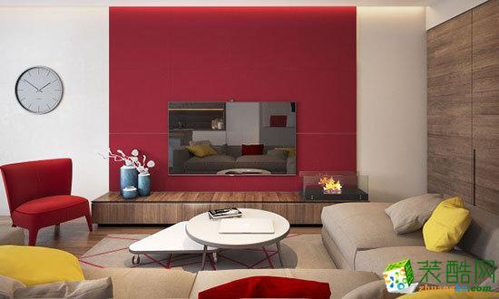 【天世居装饰】天越雅园红黄色块跳跃公寓装修案例