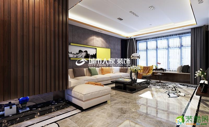 客厅  城市人家|复地东山国际|现代简约风格