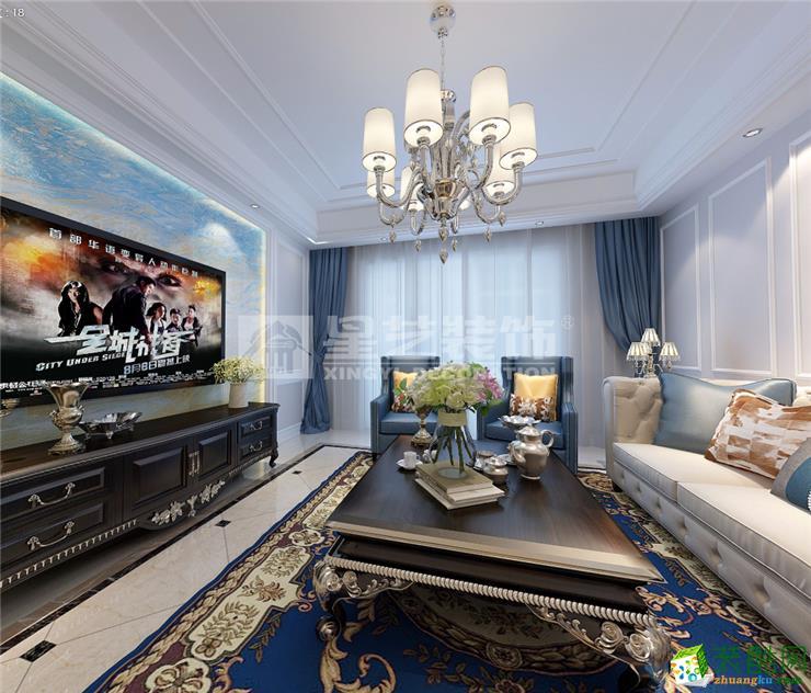 【富阳星艺】虎山雅苑120�O三室两厅简美风格装修效果图