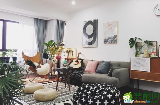 93㎡三室一厅现代简约装修效果图