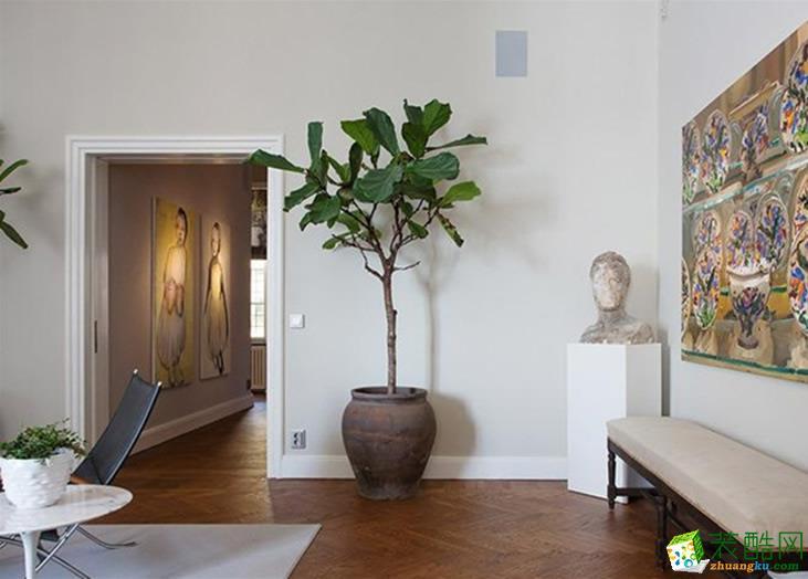 【建品装饰】保利花半里70平米现代简约两居室装修案例图