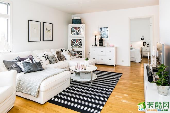 【维享家装饰】东原星樾53平米美式风格一居室装修案例图