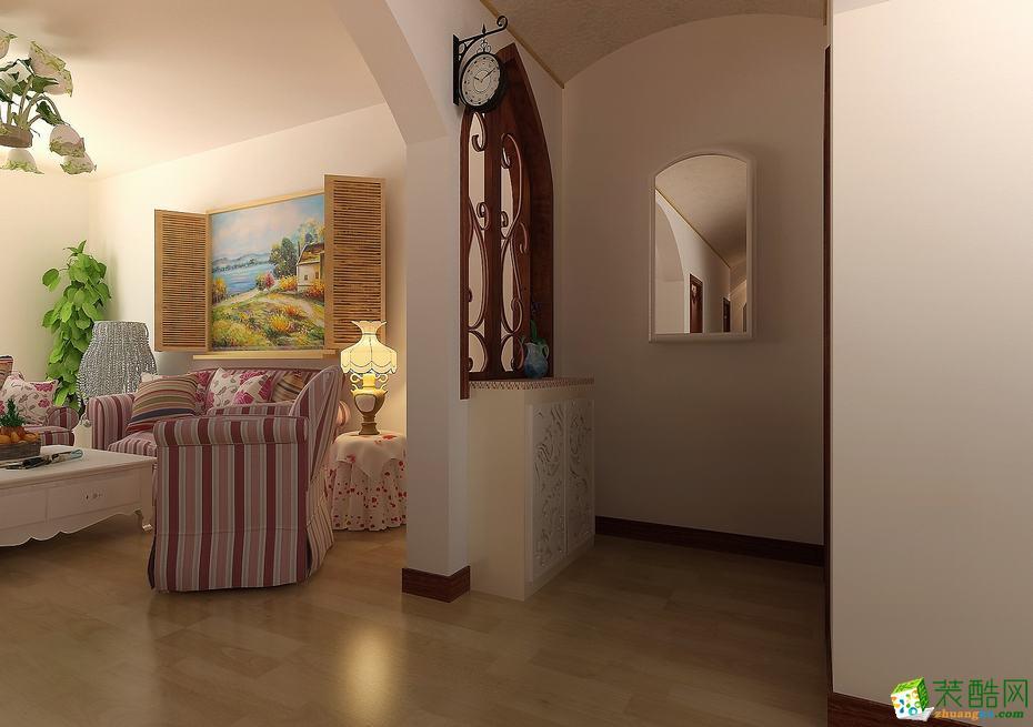 【思家装饰】89方两室两厅田园风格装修效果图