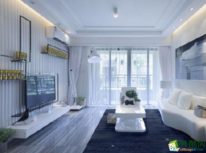 【绿森林装饰】蓝光coco65平米现代简约风格两居室装修案例图