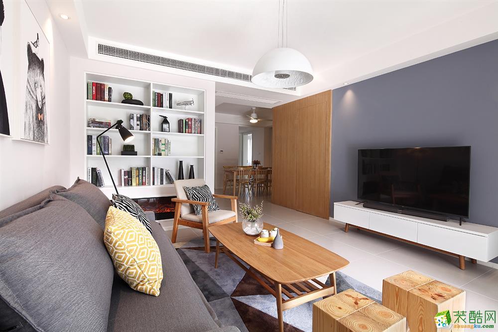 维享家装饰---南方玫瑰城82平米日式风格三居室装修案例图