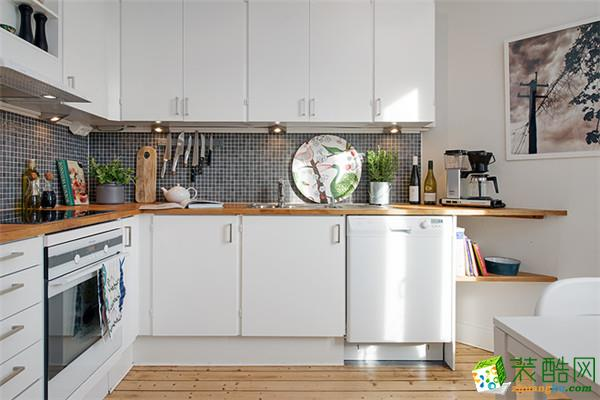 104平米复古北欧三居www.w88982.com_乐悠悠装饰_北欧风格-三室一厅一卫