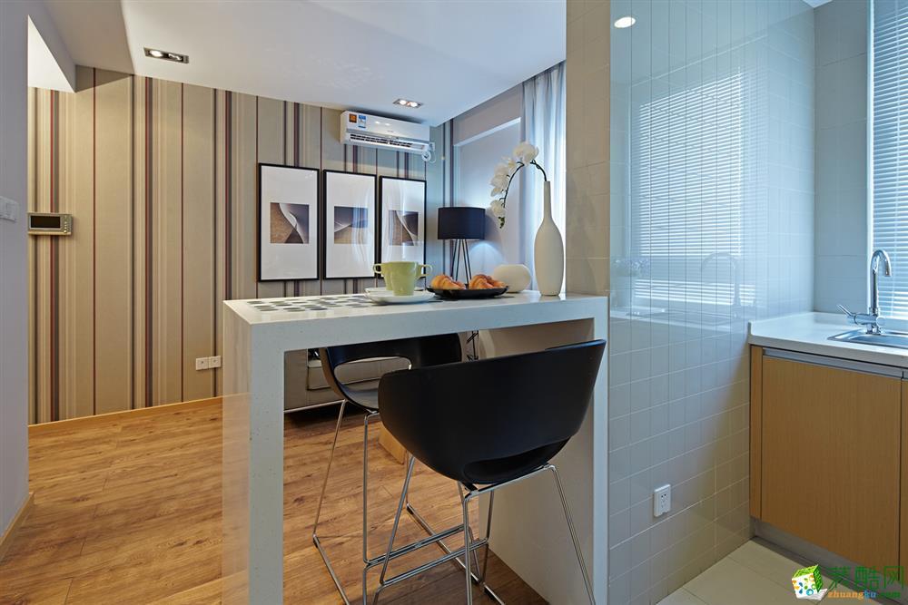 >> 【易和设计】人才公寓50方一室一厅样板房装修效果图