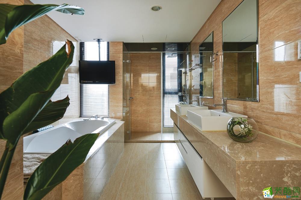 时尚个性的浴室设计  简约并不是缺乏设计要素,它是一种更高层次的创作境界。