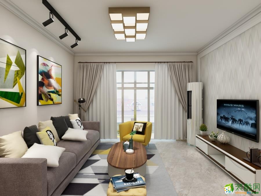 【筑格裝飾】92平米現代簡約風格三居室裝修案例圖