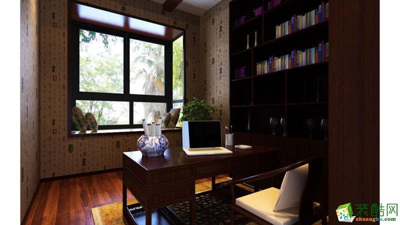 书房 四室两厅|140平|中式风格|装修效果图 【生活家装饰】中式风格|四室两厅
