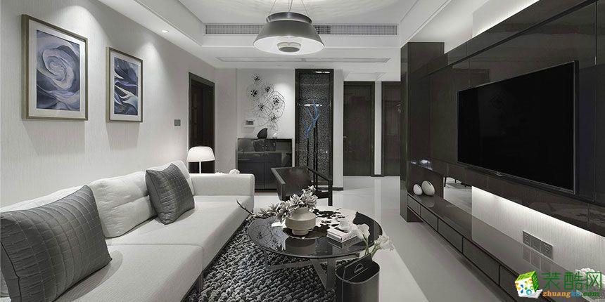【久峰裝飾】108平米現代簡約風格三居室裝修案例圖