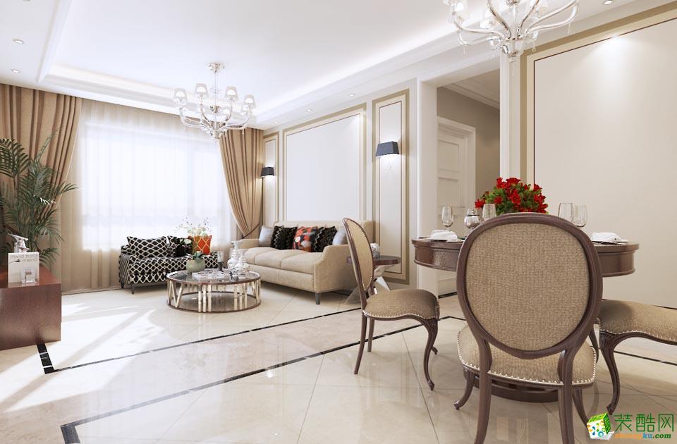 >> 115平米新中式三居室装修效果图图片