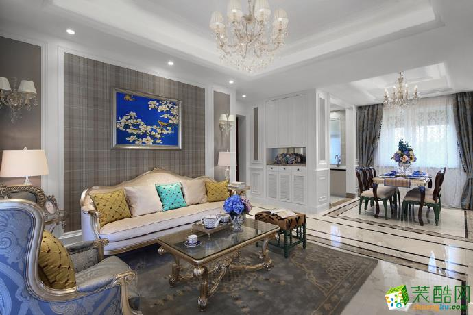 【丰立装饰】金岛御景世家120方三室两厅现代风格装修效果图