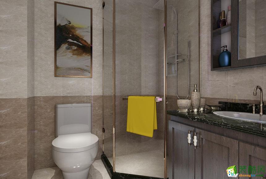美式三居室装修效果图-卫生间装修效果赏析
