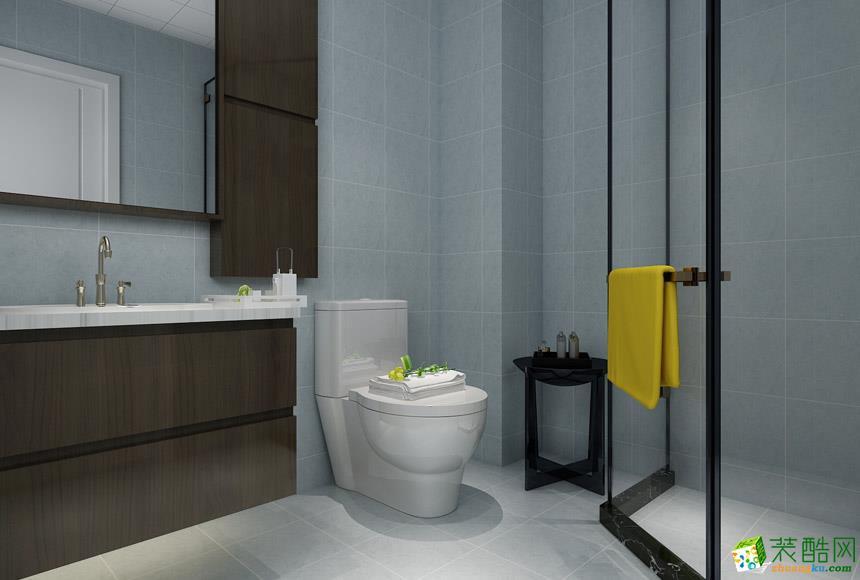 现代简约三居室装修效果图-卫生间装修效果赏析