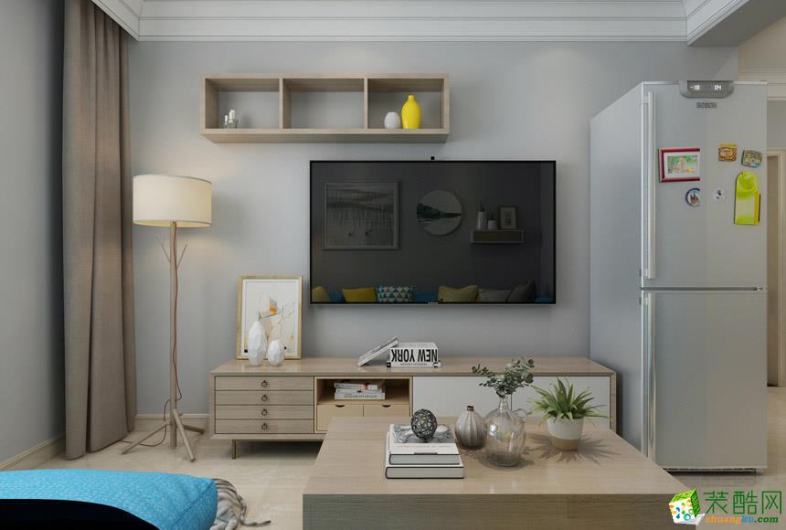 >> 80平米北欧两居室装修效果图