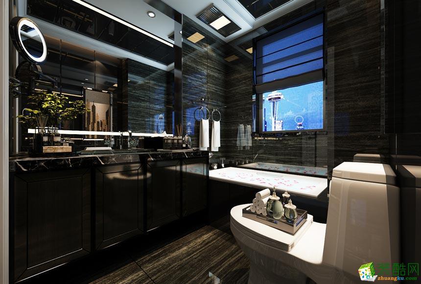 现代三居室装修效果图-卫生间装修效果赏析