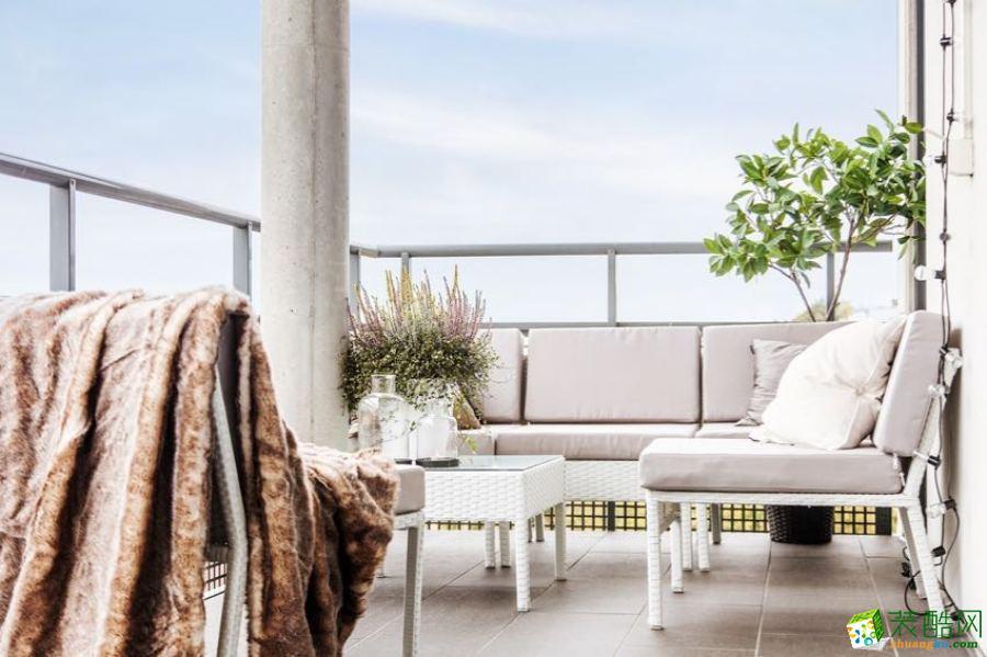 【天世居装饰】金茂悦纯白风格居家空间装修实景案例赏析。