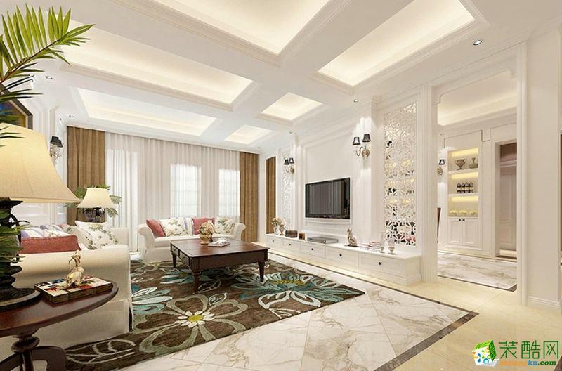【御木裝飾】90平米韓式田園風格三居室裝修案例圖