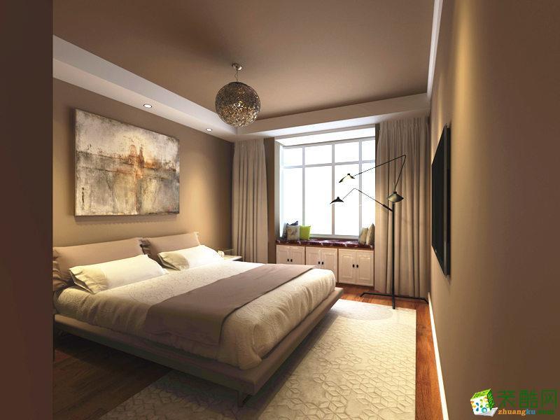 现代简约两居室装修效果图-卧室装修效果赏析