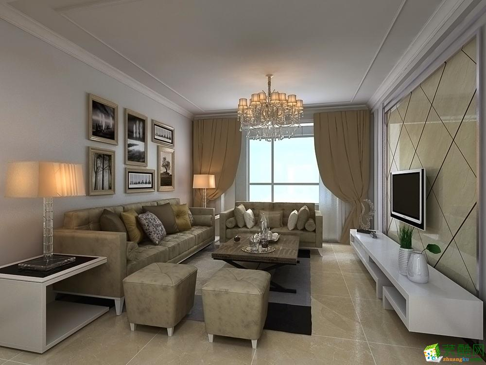长沙华悦装饰-现代简约三居室装修效果图