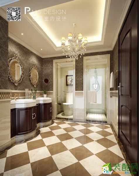 【伍重设计】元华公寓260方欧式古典风格装修效果图