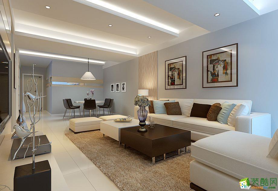 【天銮装饰】77平米现代简约风格两居室装修案例图