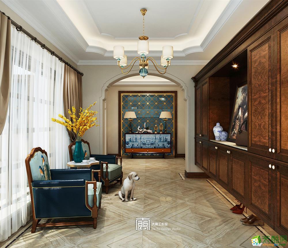 【众典装饰】临安600方简美轻奢别墅装修设计效果图