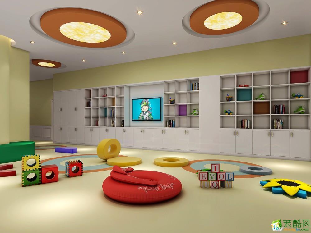 【金棕榈装饰】富阳早教中心1000方现代风格装修设计效果图