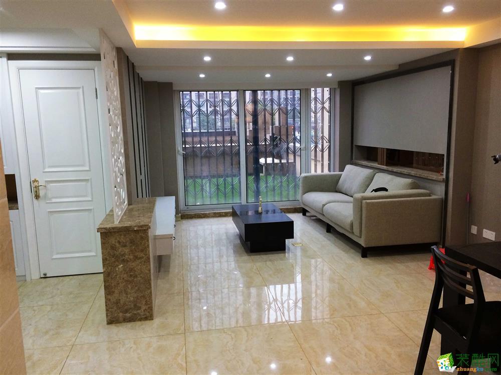 【金棕榈装饰】半岛国际90方现代简约两室两厅装修效果图