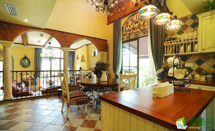 【金棕榈装饰】350方地中海风格别墅设计装修效果图