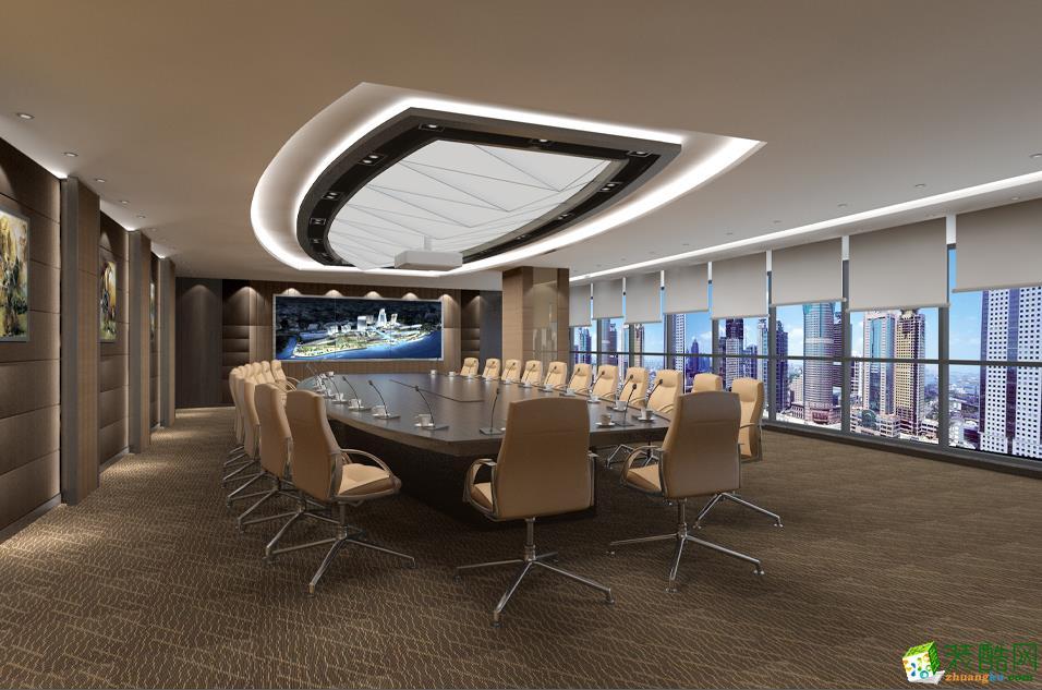 【红苹果装饰】金投集团5000方办公室装修设计效果图