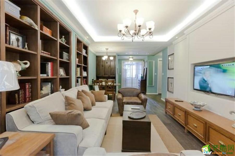 【晴星装饰】119平米现代简约风格三室两厅装修案例图