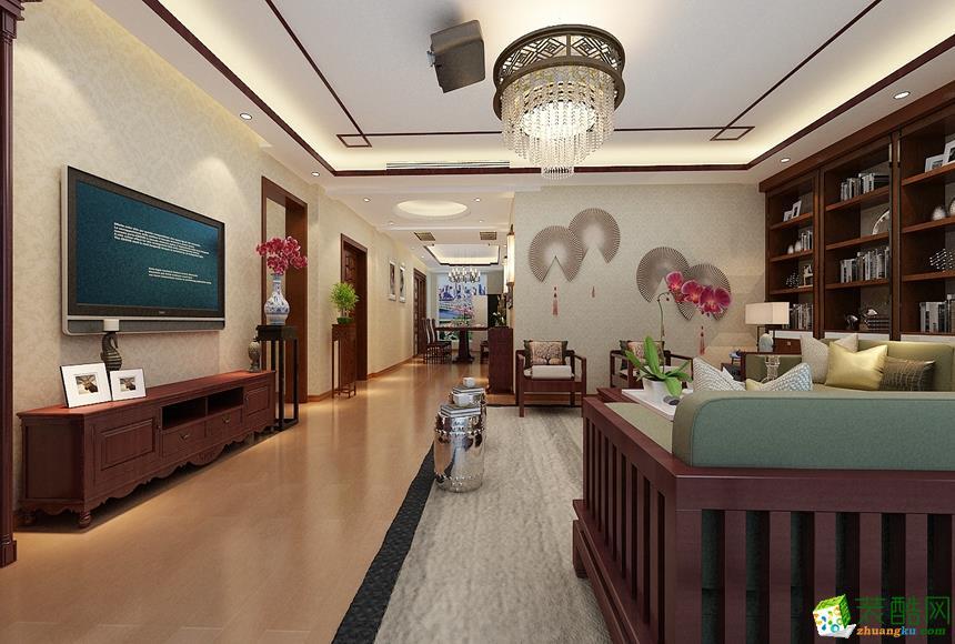 >> 130平米新中式四居室装修效果图