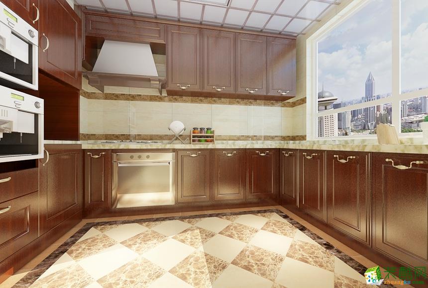 厨房 新中式四居室装修效果图-厨房装修效果赏析 长沙名匠装饰-新中式四居室装修效果图