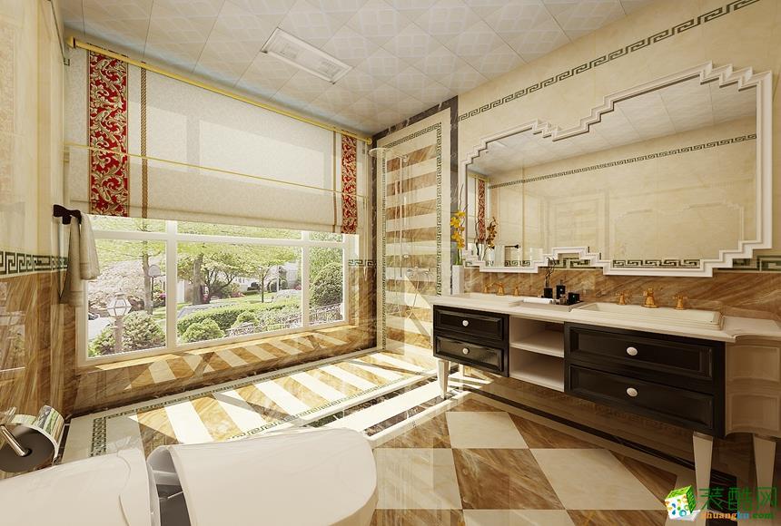 卫浴 新中式四居室装修效果图-卫生间装修效果赏析 长沙名匠装饰-新中式四居室装修效果图