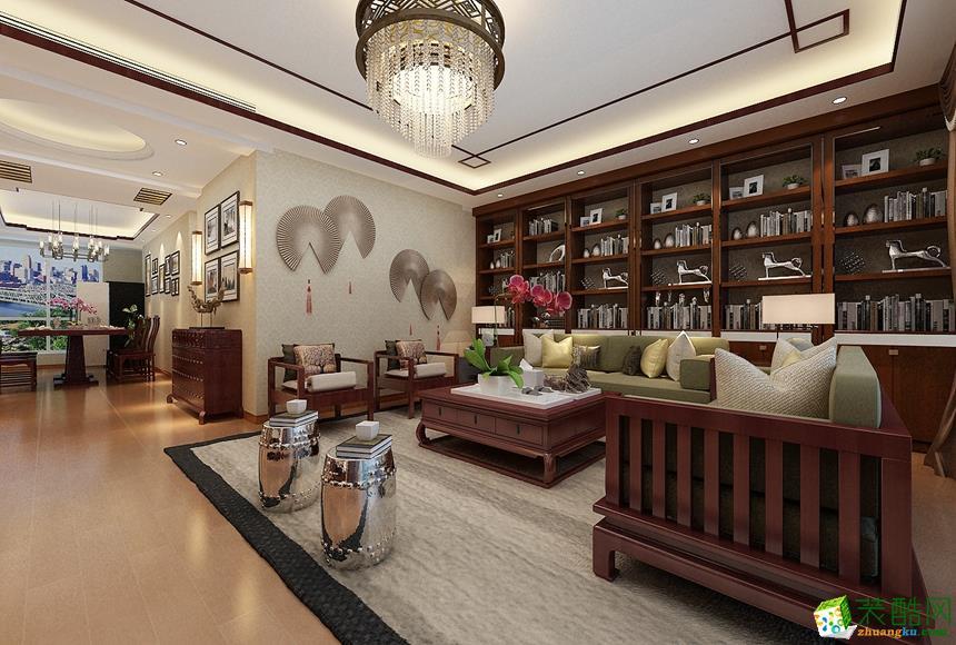客厅 新中式四居室装修效果图-客厅装修效果赏析 长沙名匠装饰-新中式四居室装修效果图