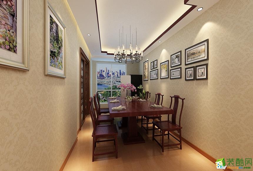 餐厅 新中式四居室装修效果图-餐厅装修效果赏析 长沙名匠装饰-新中式四居室装修效果图