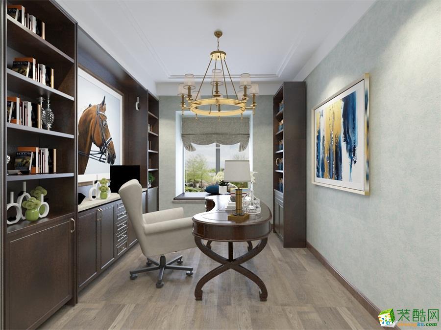 美式四居室装修效果图-书房装修效果赏析