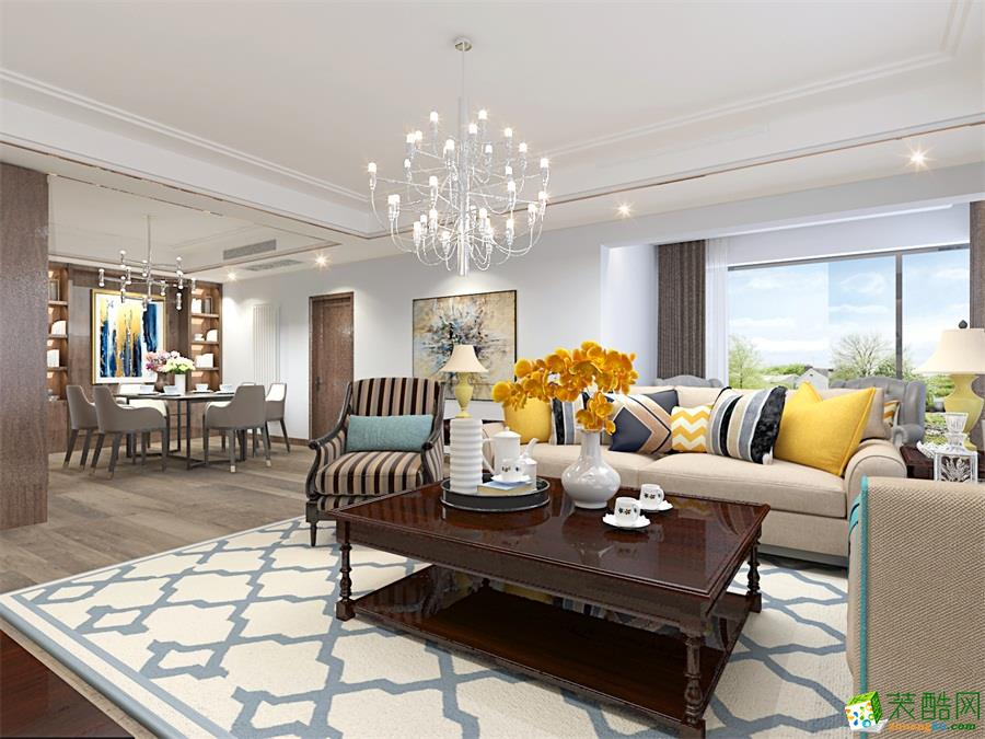 陕西宝地装饰设计工程有限公司-四室两厅两卫
