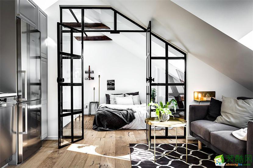 【天世居装饰】奥园越时代现代风格56平米阁楼公寓装修五分时时彩