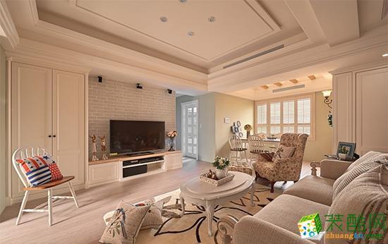 恒信装饰―107方美式风格三居室装修效果图