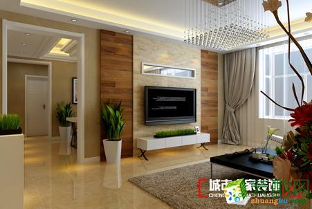 城市人家装饰―116方现代风格三室一厅装修效果图